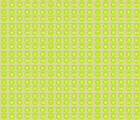 12 Number Advent Baubles fabric by bunnymazonas1 on Spoonflower - custom fabric