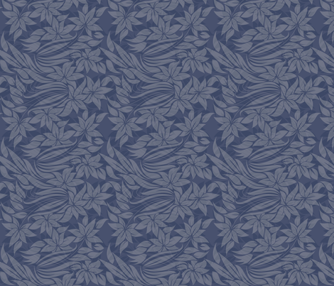 flowers in blue fabric by anastasiia-ku on Spoonflower - custom fabric