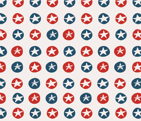 american stars in blue and red fabric by anastasiia-ku on Spoonflower - custom fabric