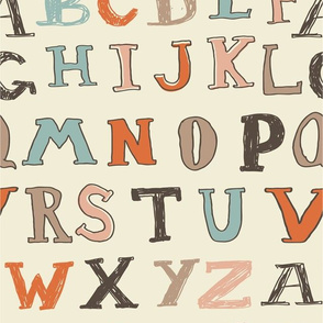 typed alphabet seamless pattern