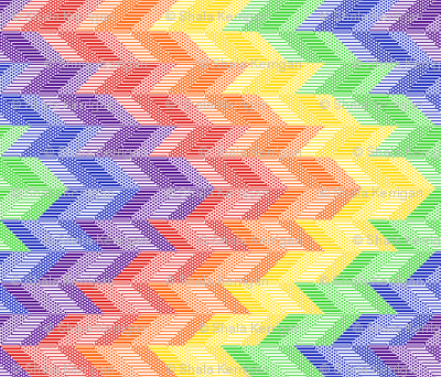 Rainbow Chevron Quilt