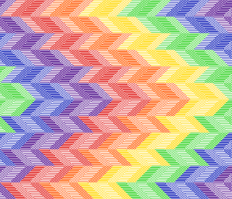 Rainbow Chevron Quilt fabric by shala on Spoonflower - custom fabric