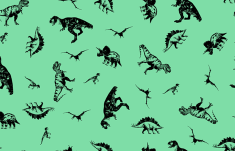 Dinosaurs 7EDDA7 fabric by candyjoyce on Spoonflower - custom fabric