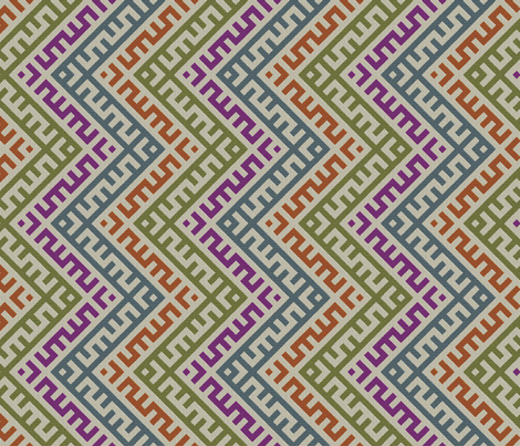 Teocalli Zigzag fabric by ormolu on Spoonflower - custom fabric