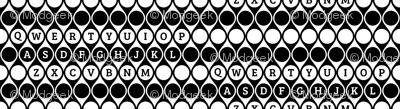 Geometric Letter Keys