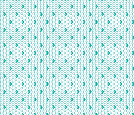 Sunshine Hexagons in Teal fabric by wildnotions on Spoonflower - custom fabric