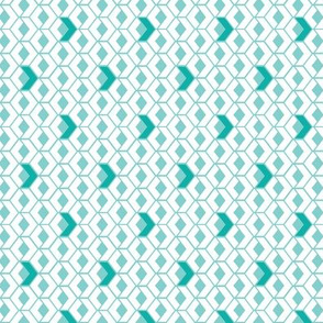 Sunshine Hexagons in Teal