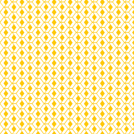 Sunshine Hexagons fabric by wildnotions on Spoonflower - custom fabric