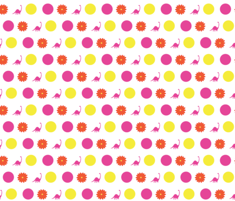 Dino_Dot fabric by viewfromtheskye on Spoonflower - custom fabric