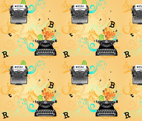 Vintage Typewriters fabric by leahvanlutz on Spoonflower - custom fabric