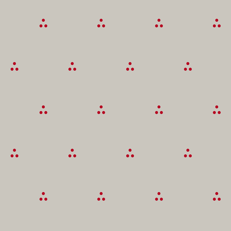 Three Dots Red on Gray fabric by pond_ripple on Spoonflower - custom fabric
