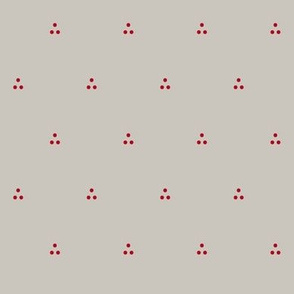 Three Dots Red on Gray