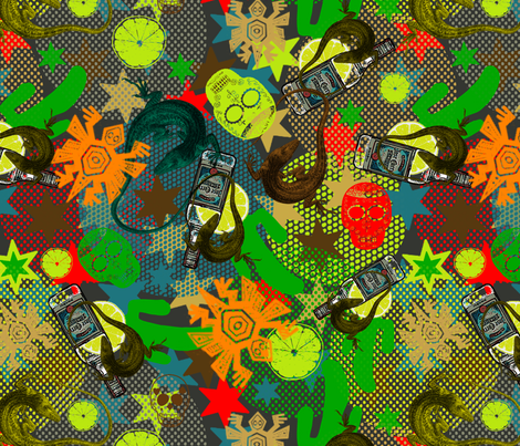 oooh tequila sundowner! fabric by susiprint on Spoonflower - custom fabric