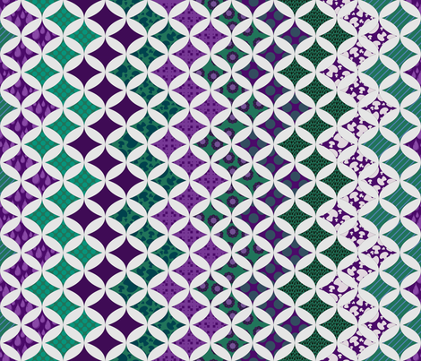 Alexandrite Zig-Zag cheater quilt fabric by katarra on Spoonflower - custom fabric