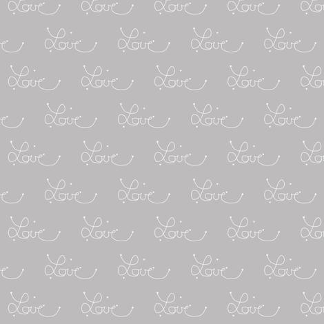 tiny love warm grey fabric by ninaribena on Spoonflower - custom fabric