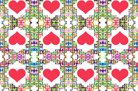 Chinoiserie Valentine fabric by boris_thumbkin on Spoonflower - custom fabric