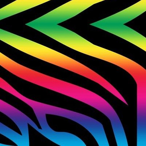 Rainbow Zebra Fabric