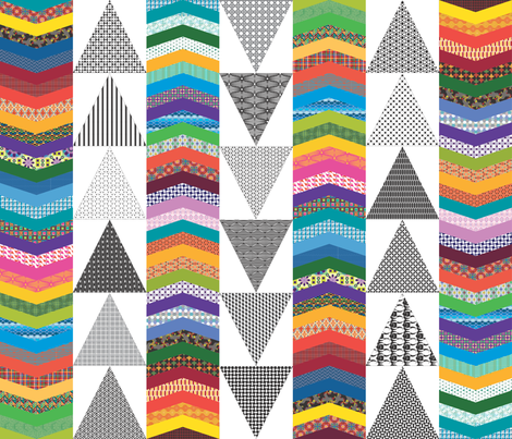 Chevron Cheater Quilt fabric by kstarbuck on Spoonflower - custom fabric