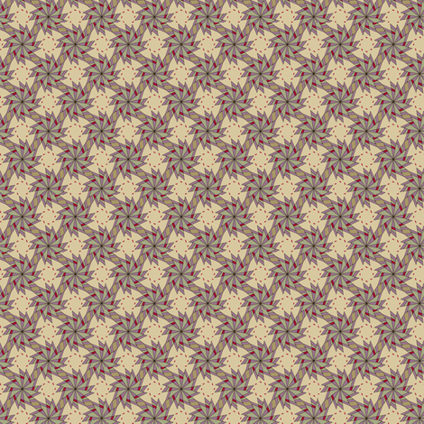 Pinwheels - Cream fabric by maplewooddesignstudio on Spoonflower - custom fabric