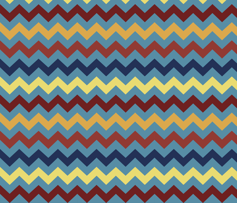 Chevrons on Turquoise fabric by nightgarden on Spoonflower - custom fabric