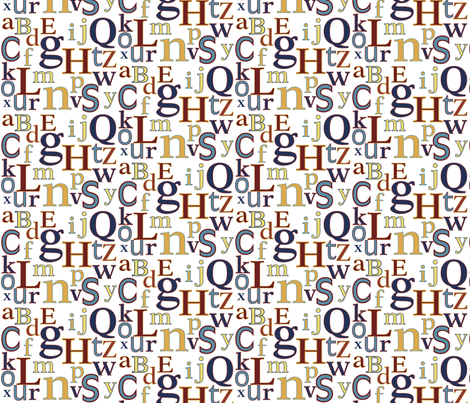 Marquee Letters fabric by nightgarden on Spoonflower - custom fabric