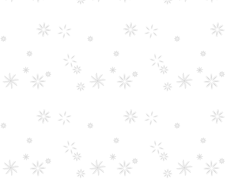 snowflakes grey fabric by mojiarts on Spoonflower - custom fabric