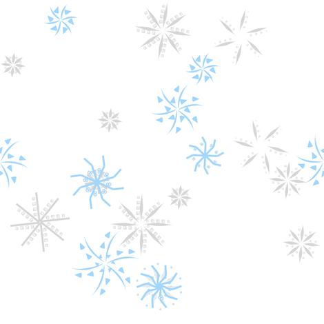 snowflakes gray and baby blue