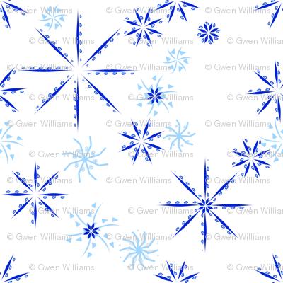 snowflakes blue