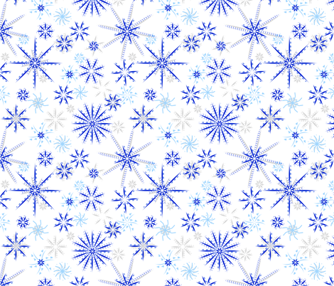 blizzard blue and gray fabric by mojiarts on Spoonflower - custom fabric