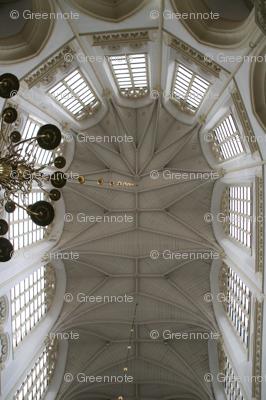 Church ceiling plaid