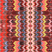 2_cheater quilt in the style of a zig-zag