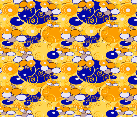 Klimt 8 fabric by kociara on Spoonflower - custom fabric