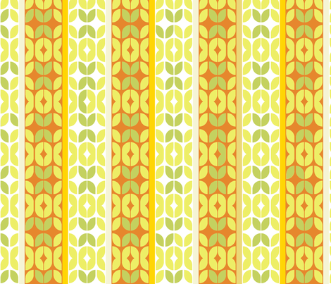 mod_stripe-rust-leaves fabric by wren_leyland on Spoonflower - custom fabric