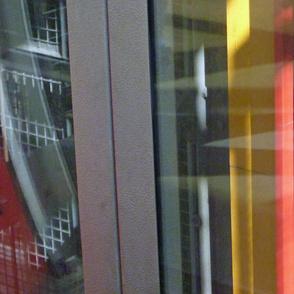 Looking down the Elevator Shaft, Pompidou Center, Paris - 2