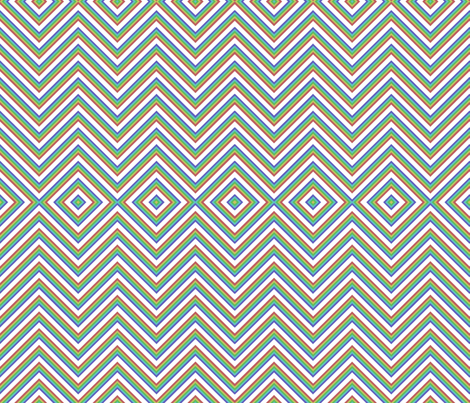 southwest chevrons fabric by cafe_projections on Spoonflower - custom fabric