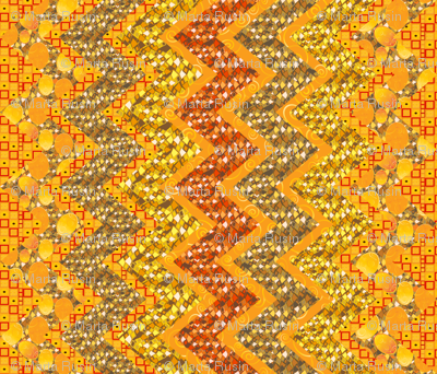 Klimtesque cheater zig zag quilt 1