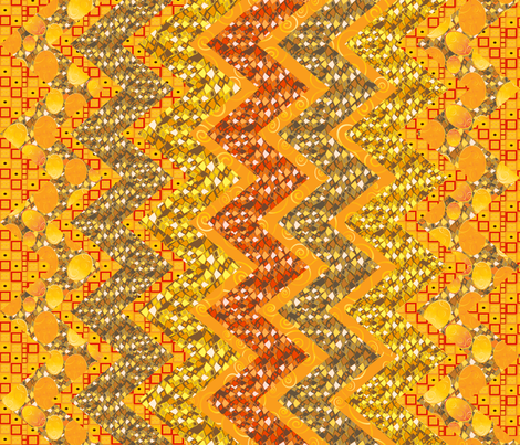 Klimtesque cheater zig zag quilt 1 fabric by kociara on Spoonflower - custom fabric