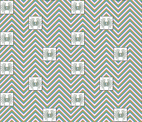 southwest-spiders-chevron fabric by cafe_projections on Spoonflower - custom fabric