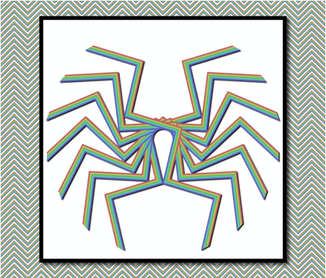 southwest abstract spider quilt