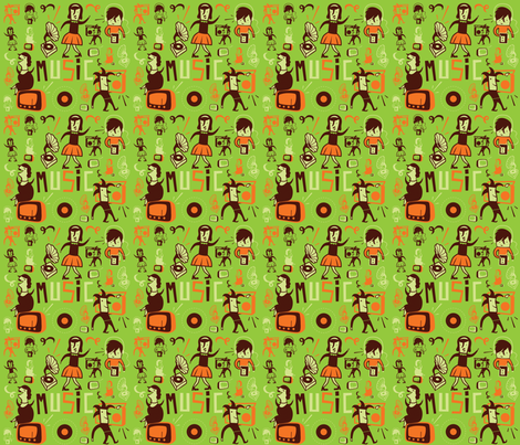 Evergreen fabric by lien_geeroms on Spoonflower - custom fabric
