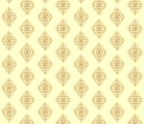 MAYAN CREAM DIAMONDS fabric by bluevelvet on Spoonflower - custom fabric