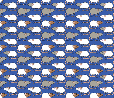 Cute rats fabric by zoel on Spoonflower - custom fabric