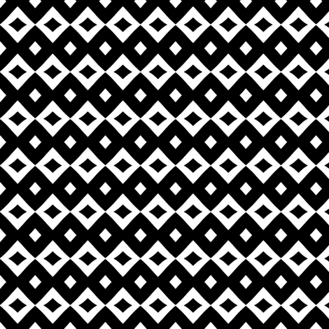 Diamond Doo (Black & White) fabric by pattyryboltdesigns on Spoonflower - custom fabric