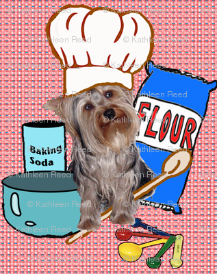 Yorkie Kitchen fabric