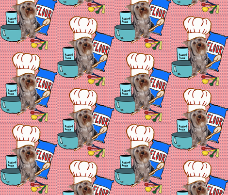 Yorkie Kitchen fabric fabric by dogdaze_ on Spoonflower - custom fabric
