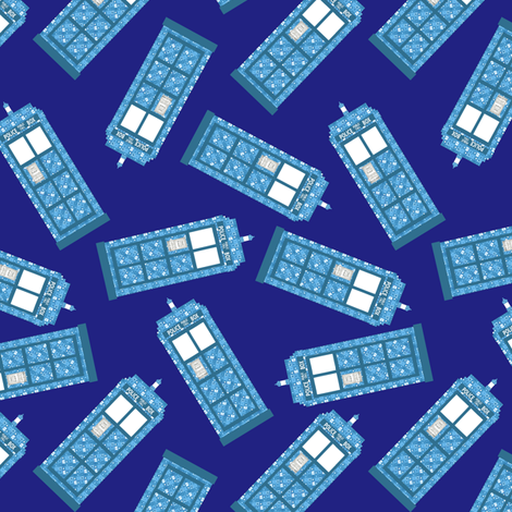 higgily piggly tardis fabric by vo_aka_virginiao on Spoonflower - custom fabric