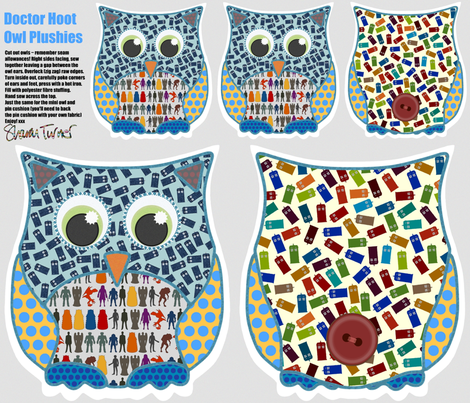 Doctor Hoot Owl Plushies fabric by scrummy on Spoonflower - custom fabric