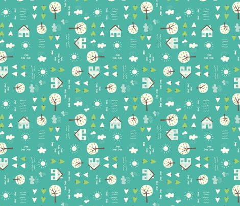 The_Cabin_bay fabric by stacyiesthsu on Spoonflower - custom fabric