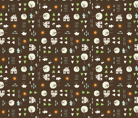 The_Cabin_brown fabric by stacyiesthsu on Spoonflower - custom fabric