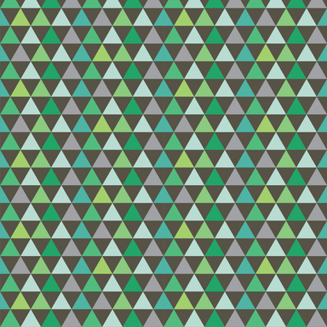 Triangles_Galore_Dark_gray fabric by stacyiesthsu on Spoonflower - custom fabric